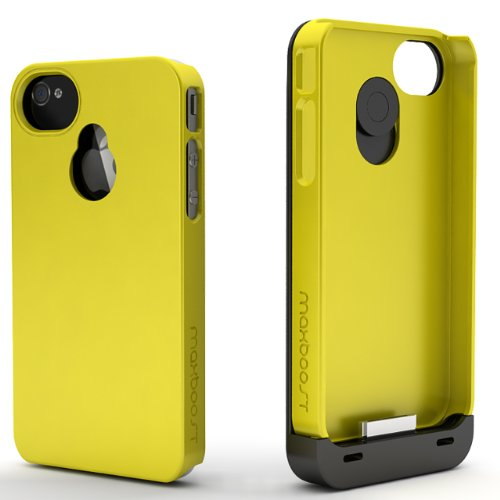 Maxboost Hybrid iPhone 4S Battery Case / iPhone 4 Battery Case (1900mAH, Fits all versions of Apple iPhone 4 & 4S) - Detachable Battery Charger Case External Rechargeable Battery Pack Charging Power Case
