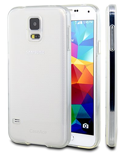 Galaxy S5 Case, Galaxy S5 Cases, Case Ace® Silicone Slim Protective Samsung Galaxy S5 Case Clear Silicone Gel Cover