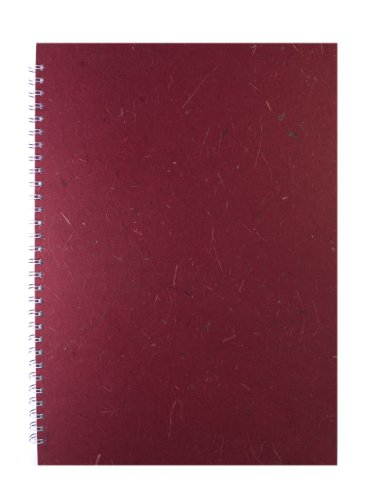 Pink Pig A3 Banana Fat Pig Off White Paper Portrait Sketch Book - Burgundy