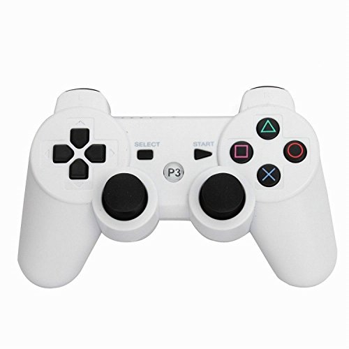 PS3 Controller YANX Bluetooth Wireless Dualshock PS3 Game Controller Gamepad Joypad for Playstation 3 (White)