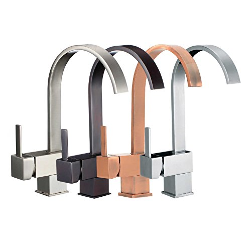 FREUER Organica Collection: Modern Kitchen / Wet Bar Sink Faucet - Multiple Finishes Available