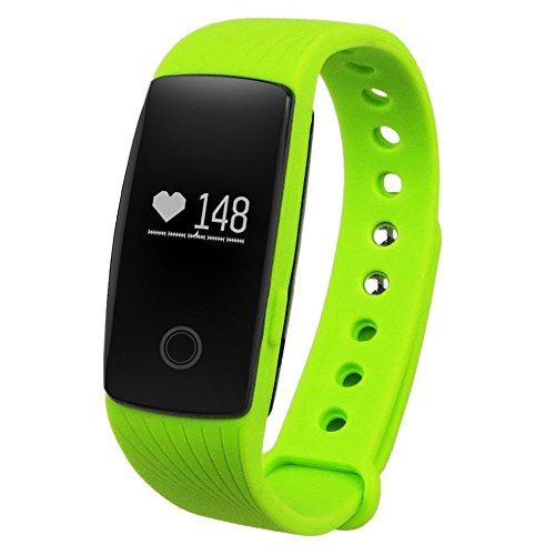 GearBest Sports Smart Bracelet with Heart Rate Monitor Remote Camera Water-resistant (Green)