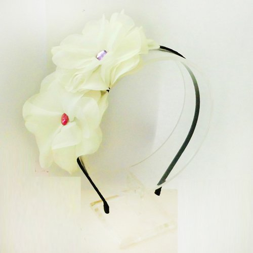 World Pride Hot Lovely Metallic Sweet Lady Hollow Rose Flower Elastic Hair Band Headband - Gold
