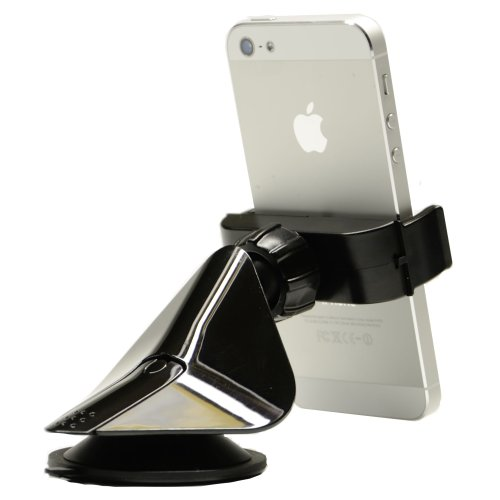 Tackform C-Fit Universal Window/Dashboard Mount for iPhone 4/4s/5, Galaxy S3/S4/S4 Active, Q10, HTC One, Moto Razr and similar sized devices - Black
