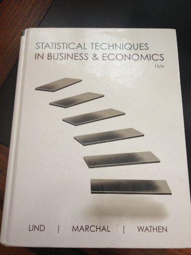 statistical techniques in business & economics 15/e 15th edition