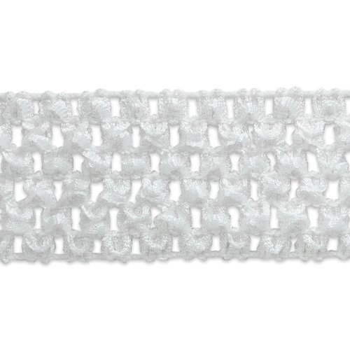 Expo 20-Yard Crochet Headband Stretch Trim, 1-3/4-Inch, White
