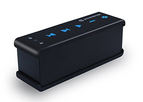 Zoweetek 10W+ MaxBass NFC Technology Ultra Portable Wireless Bluetooth Speaker : Louder Volume, More Bass, Water Resistant, Perfect Speaker for Echo Dot, Beach, Shower & Home, Black