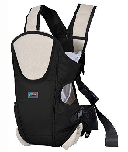 Ultimate Baby Carrier by Baby & Mom - Cushioning, Ergonomic, Stylish & Safe - (Black)