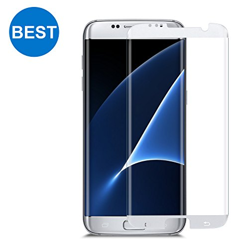 Samsung Galaxy S7 Edge Screen Protector TANAAB [9H Glass][Case Friendly][No Lifting Up][3D Curved Protection][Ultra HD][Anti-Bubble] - Silver