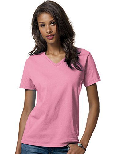 Hanes 5.2 oz Women's COMFORTSOFT Relax Fit V-Neck T-Shirt