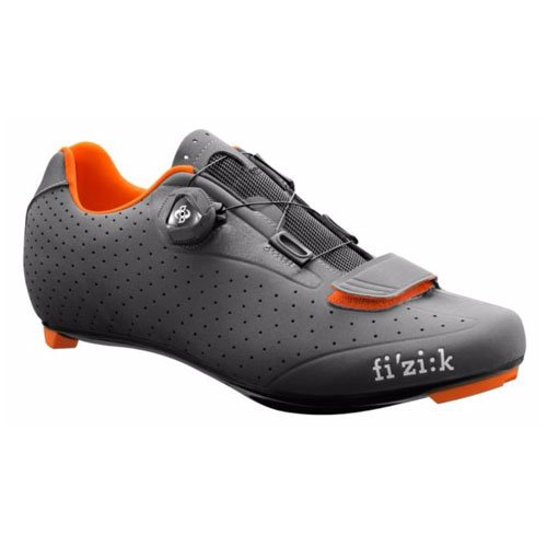 Fizik R5 UOMO BOA Road Cycling Shoes, Anthracite/Fluorescent Orange, Size 44  Anthracite/Fluorescent Orange