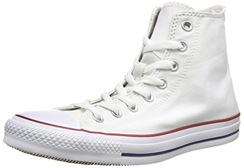 Converse Chuck Taylor All Star Hi Top Optical White Canvas Unisex,US Size Mens 10.5 Womens 12.5