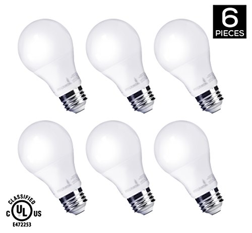 HyperSelect 9W LED A19 - E26 Bulb Non-Dimmable (60-Watt Equivalent), 3000K (Soft White Glow) , 820 Lumens, Medium Screw Base, 340° Beam Angle - (Pack of 6)