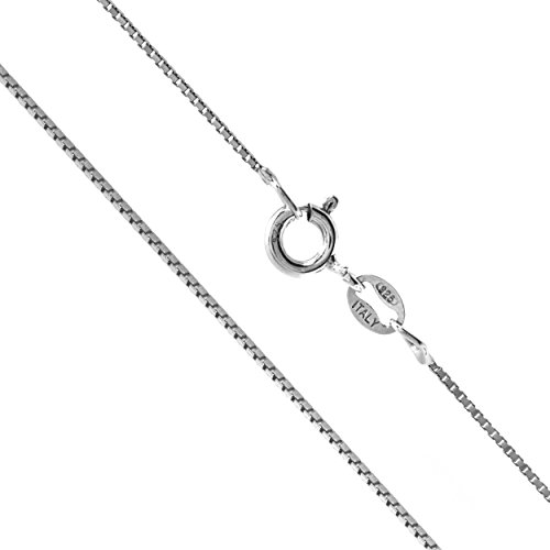 Sterling Silver 1mm Box Chain Necklace, 14 - 36