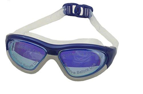 Aquazone Premium Swimming Goggles - Maximum UV Protection & Anti-Fog Lenses, Easy Adjustable Strap, Durable Carry Case & Earplugs Included