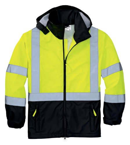 CornerStone/Red Kap - ANSI Class 3 Safety Windbreaker. CSJ25 L, Safety Yellow/Black