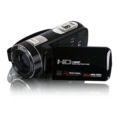 Besteker HD 1080p 24.0 Mega Pixels Enhanced Digital Video Camcorder 16X Zoom Camera DV 3.0 TFT LCD Rotation Touchscreen Video Recorder + Safety Tether