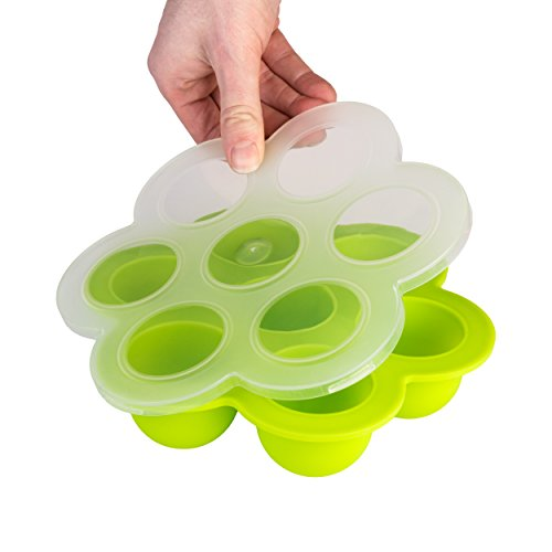 Baby Food Storage Container with Secure Lid. FDA Approved, BPA Free. Multi - Purpose Storage Container, Awesome for Homemade Baby Food, Fruit Purees, Breast Milk, Mini Cakes Lifetime Guarantee!