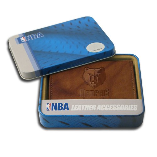 NBA Memphis Grizzlies Embossed Genuine Leather Trifold Wallet