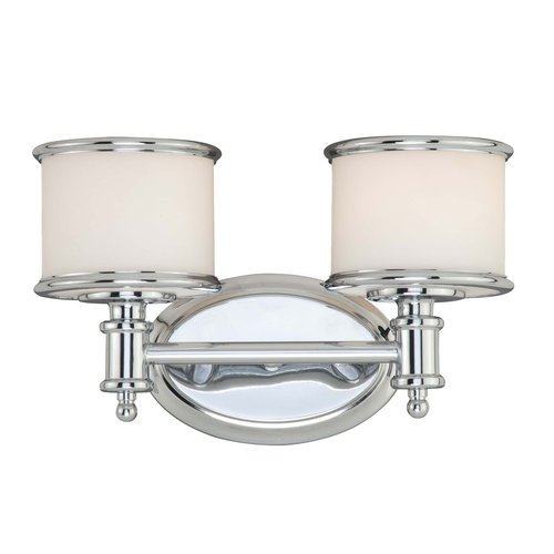 Vaxcel CR-VLU002CH Carlisle 2 Light Vanity Light, Chrome Finish