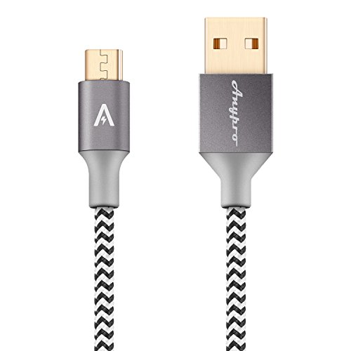 Anypro 2.0 Micro-USB to USB Cable - 2 Pack (2m,1m) Reversible Nylon Braided