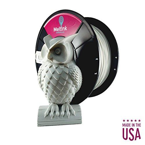 MeltInk3d Cool Gray 1.75mm PLA 3D Printer Filament 1Kg