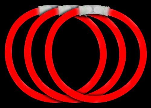 Fun Central P74 8 Inch Glow Stick Bracelets Red Glowsticks - 50 Count
