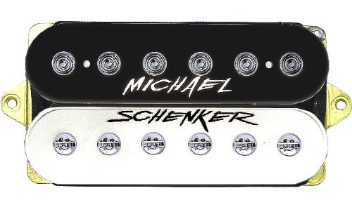 Dimarzio Michael Schenker Bridge Position (*Bulk Pac) - Black/White with Logo Humbucker Pickup
