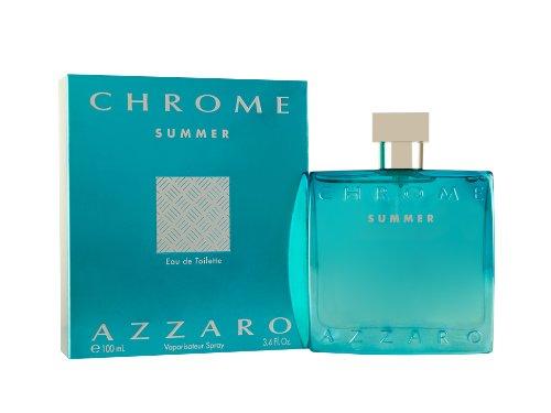 Loris Azzaro Chrome Summer Eau de Toilette Spray for Men, 3.4 Ounce