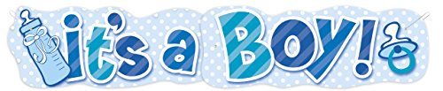 4.5ft It's A Boy Jointed Banner
