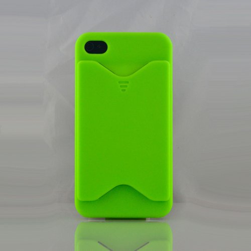 BONAMART ® ID Credit Card Case Holder Cover for Iphone 4 4g 4s Green