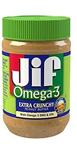 Jif Omega-3 Crunchy Peanut Butter, 16 Ounce