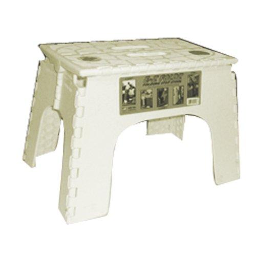 B&R Plastics 104-6BG Beige 12 EZ Foldz Step Stool - Pack of 6