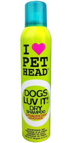 Pet Head Dogs Luv It! 5.6 oz Dry Shampoo Strawberry Lemonade