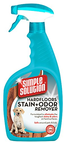 Simple Solution Hardfloors Stain and Odor Remover, 32 Ounce Spray Bottle