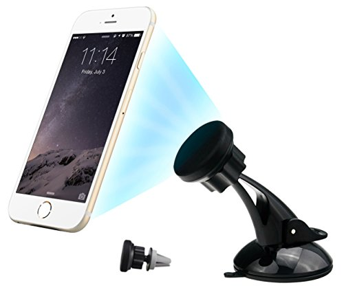 [2016 New Release] Car Mount 3 in 1 Universal Aoodle® Magnetic Car Phone Holder Car Mount Phone Holder Mobile Phone Holder Car Mounts / Dashboard / Air Vent / Windscreen Car Holder / 360 Degree Rotation Holders / iPhone / Samsung / HTC / Nokia / Google and others