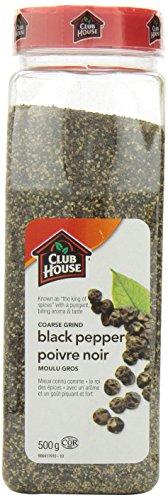 Club House Pepper Black Coarse Ground, 500 Gram