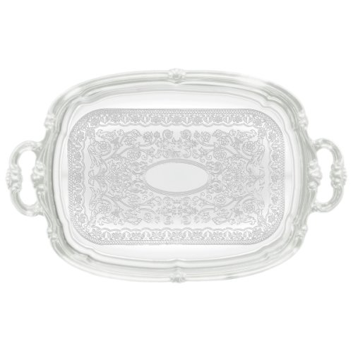 Serving Tray CMT-1912 - 19 1/2 x 12 1/2 Oblong W/Handles Chrome Plated Winco
