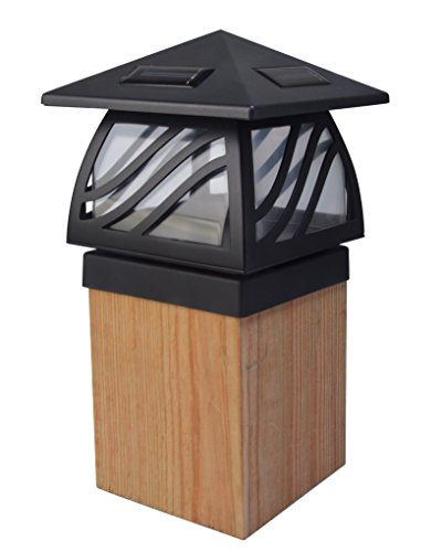 Moonrays 91196 Solar Powered LED Post Cap Light, Black Finish