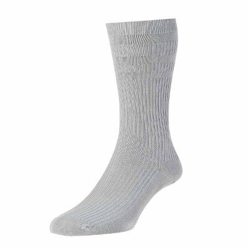 HJ Hall Cotton Mix Softop Men's Socks (SK53)- Charcoal Grey