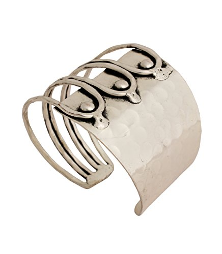 Bracelets for Women Hand Crafted Cuff Silver Bracelet Bangle Hammered Design Fashion Jewelry