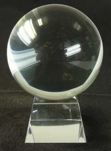 80mm Clear Crystal Ball On Stand