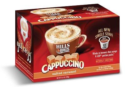 Hills Bros Salted Caramel Cappuccino Keurig K-Cups, 12 Count