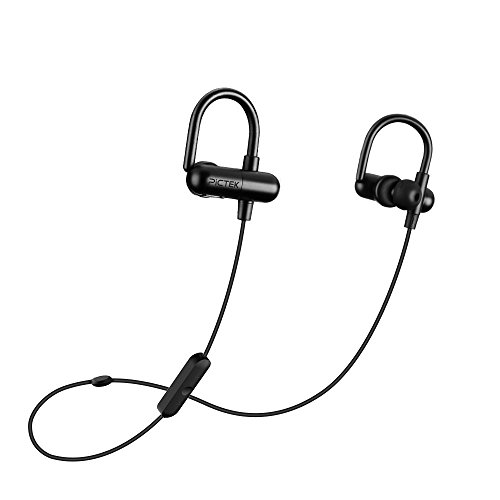 Pictek Bluetooth Headphones V4.1 In-ear Secure Fit Running Gym Exercise Earphones with aptX, built-in Mic Stereo Sound For iPhone 6/6s Plus Samung etc Cell Phones Computers, Tablets, Outdoor and Indoor Activities - Black