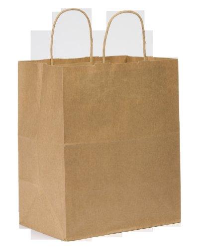 Duro Bistro Medium Shopping Bag, Kraft Paper, 10x6-3/4x12 250 ct, ID# 88206