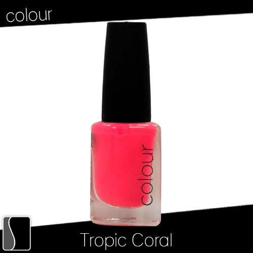 CND Colour Color Nail Lacquer Tropic Coral Manicure Polish .33 oz Creative 521