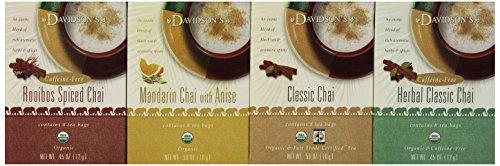 Davidson's Tea Assorted Chai Tea, 8-Count Tea Bags (Pack of 12)