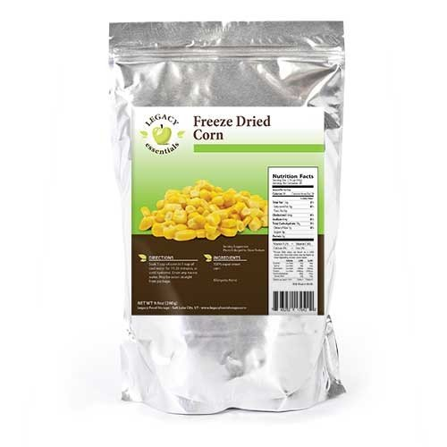 Legacy Essentials Freeze Dried Corn Niblets - 15 Year Shelf Life for Emergency Survival Food Storage Supply - Disaster Preparedness