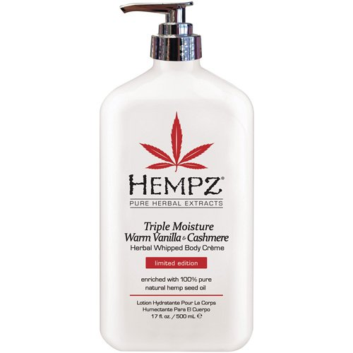 Hempz Herbal Whipped Body Creme Triple Moisture, White Peppermint and Vanilla, 17 Fluid Ounce