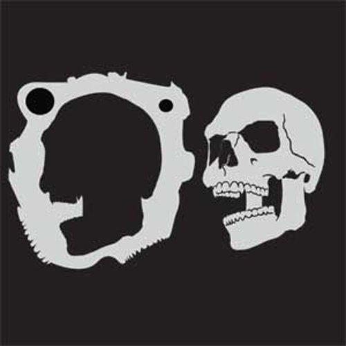 Custom Skull Stencil #4 Skull Center Airbrush Stencil Template